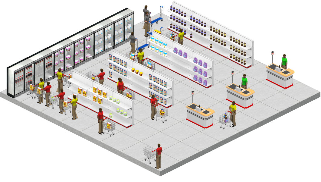 West zone fresh supermarket for Store layout design free